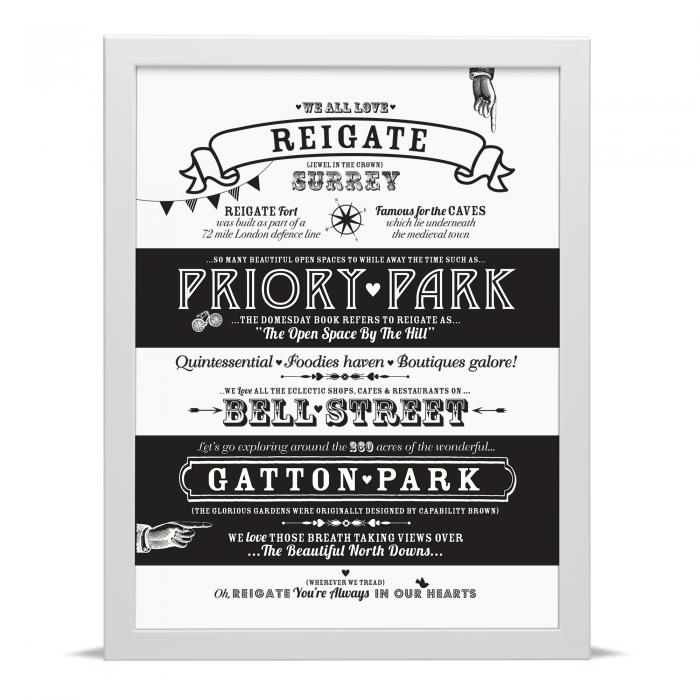 Place in Print Octavia Plum Reigate Love Your Location Art Print