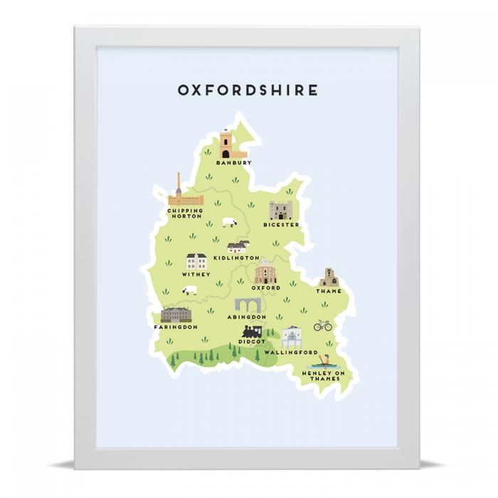 Place in Print Pepper Pot Studios Oxfordshire Illustrated Map Art Print