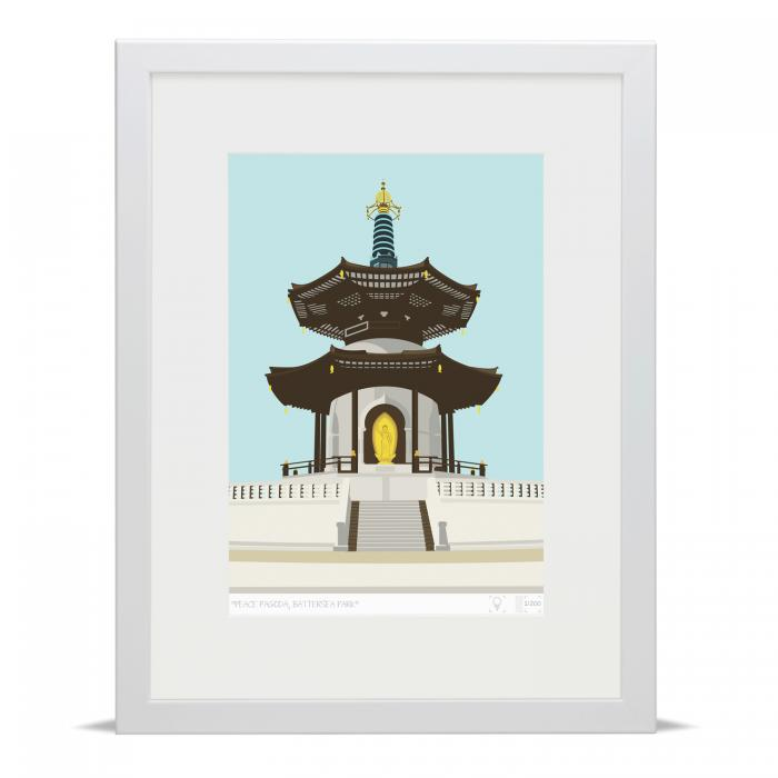 Place in Print Battersea Park Peace Pagoda Art Print