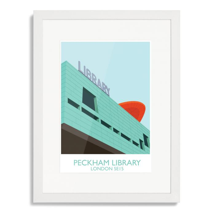 South London Prints Peckham Library Art Poster Print