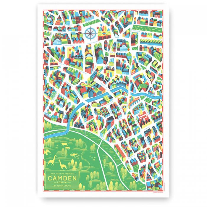 Place in Print Walk With Me Camden Illustrated Map