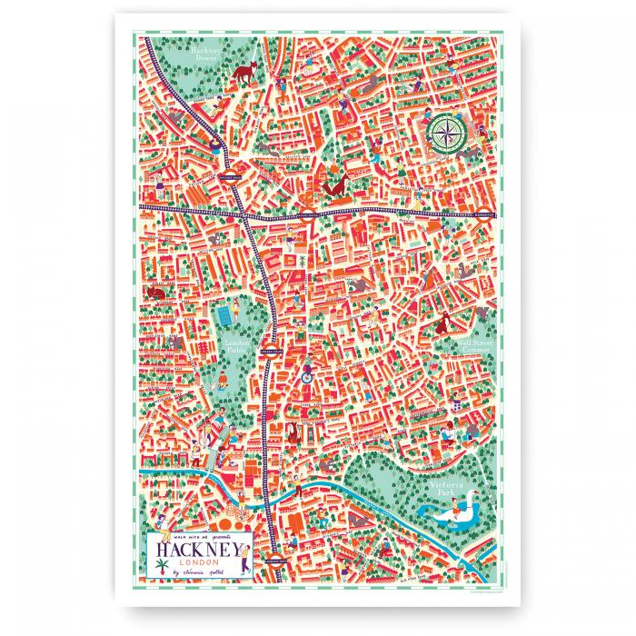 Place in Print Walk With Me Hackney Illustrated Map