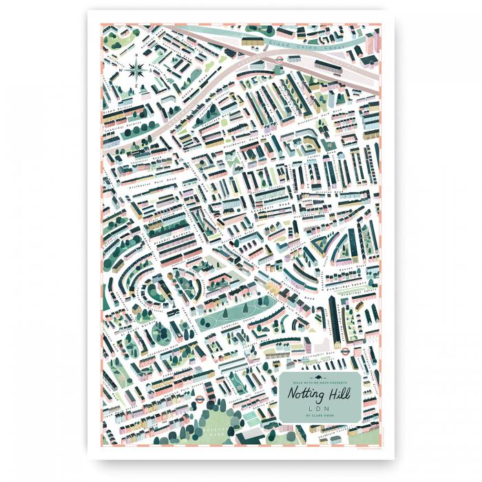 Place in Print Walk With Me Notting Hill Illustrated Map