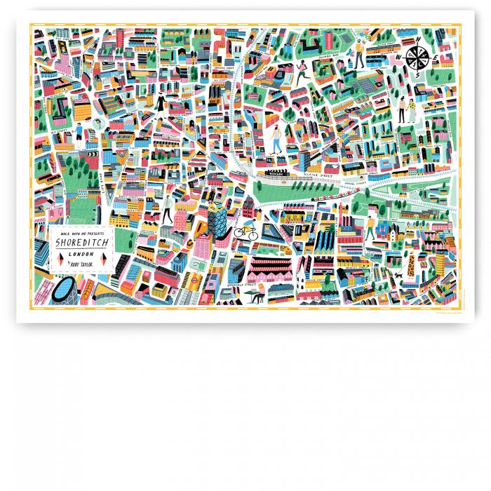 Place in Print Walk With Me Shoreditch Illustrated Map