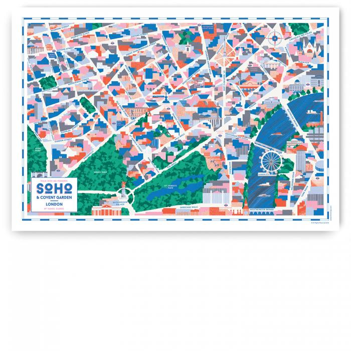 Place in Print Walk With Me Soho Covent Garden Map