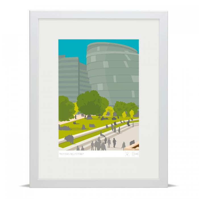 Place in Print Potters Fields Park London Bridge Banner Art Poster Print