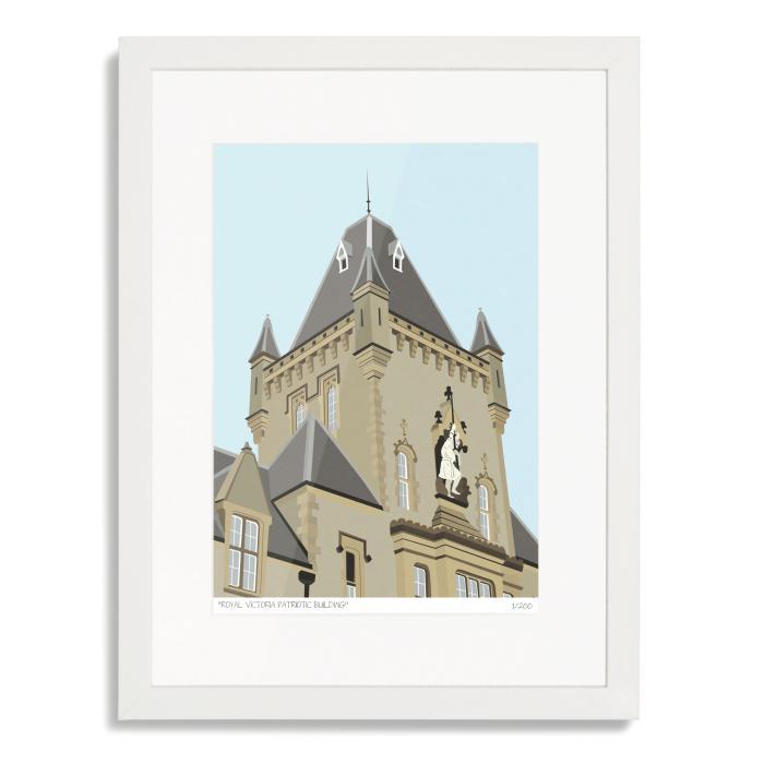 Royal Victoria Patriotic Building Art Print