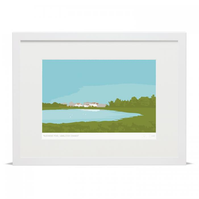 Place in Print Rushmere Pond Wimbledon Common Art Poster Print