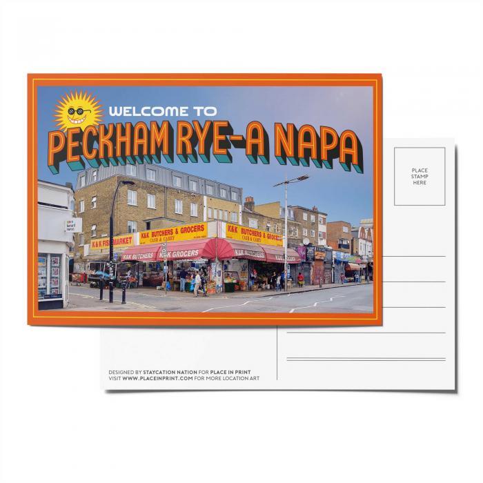 Place in Print Staycation Nation Peckham Rye-A Napa Postcard