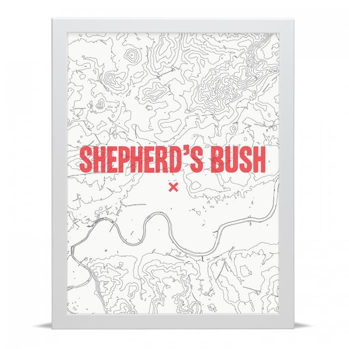 Place in Print Shepherds Bush Contour Map Art Print