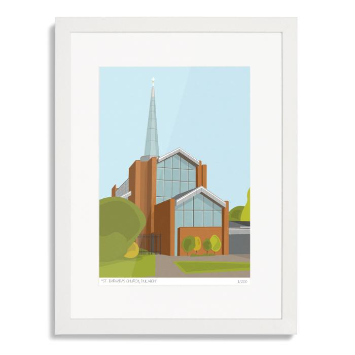 St Barnabas Church Dulwich Art Print