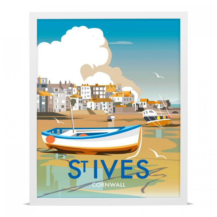 Place in Print Dave Thompson St Ives Travel Poster Art Print