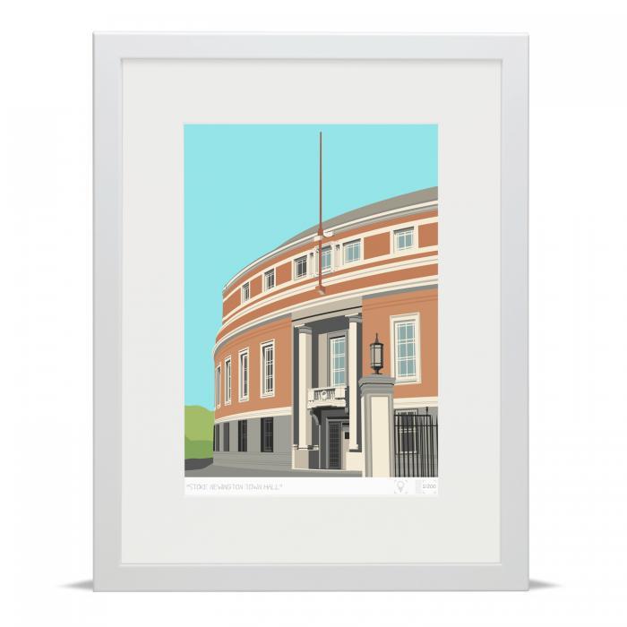 Place in Print Stoke Newington Town Hall Art Print