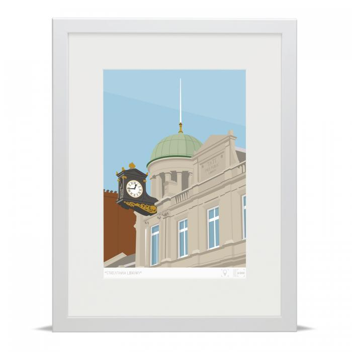 Place in Print Streatham Library Art Print Poster