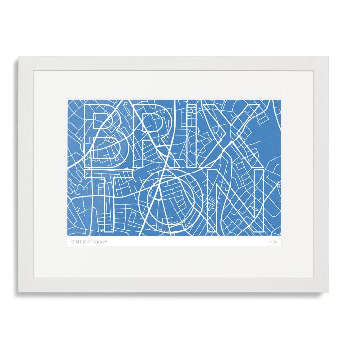 Streets of Brixton Art Poster Print