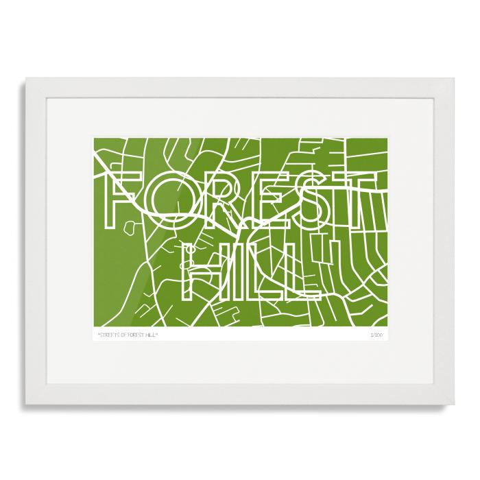 Streets of Forest Hill Art Poster Print
