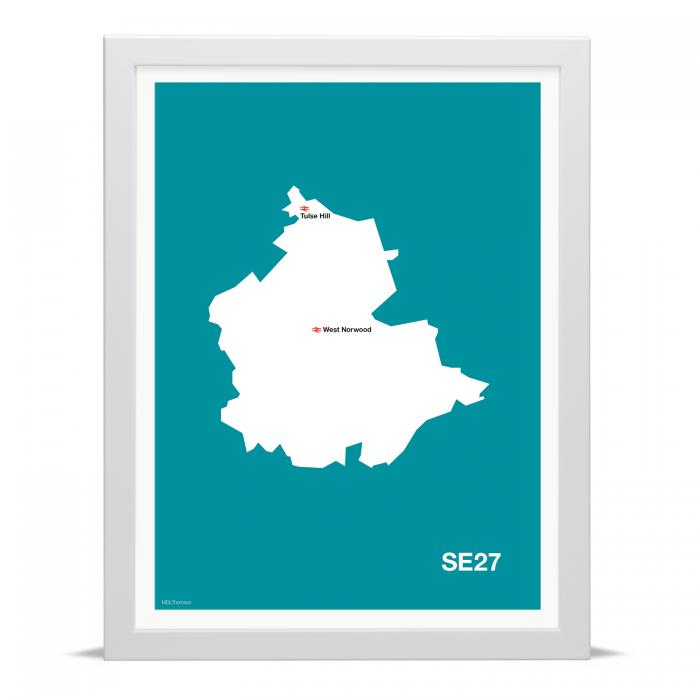Place in Print MDLThomson SE27 Postcode Map Art Print