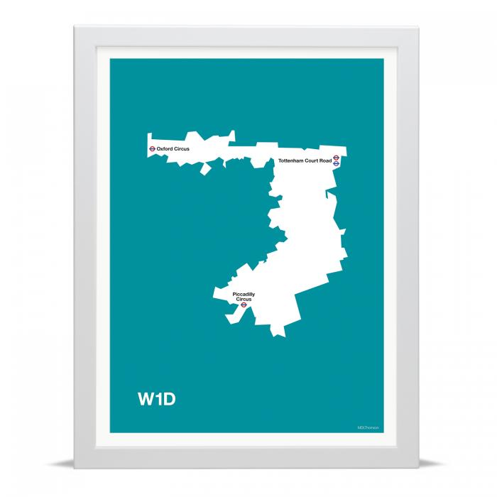 Place in Print MDLThomson W1D Postcode Map Art Print