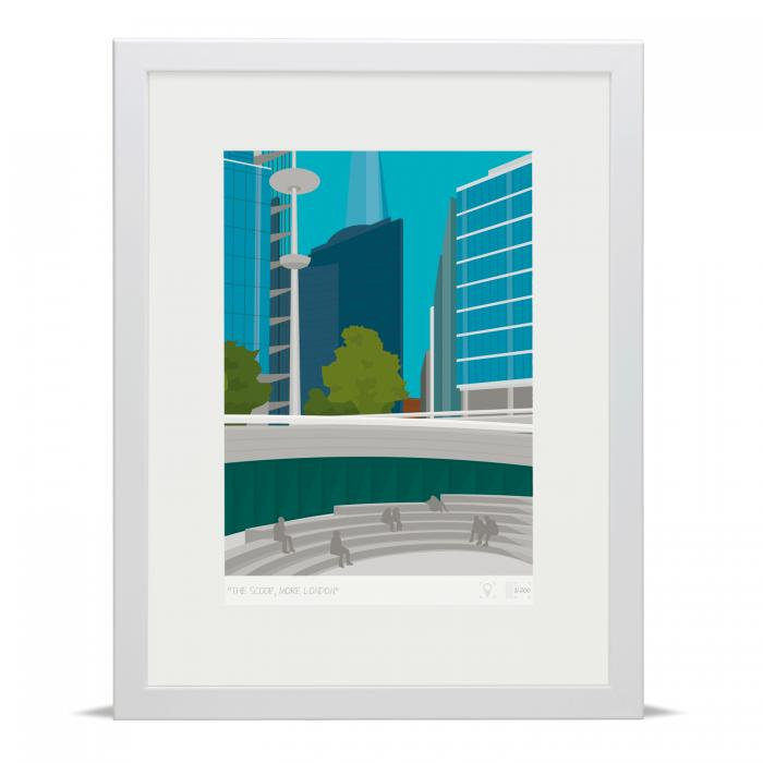 Place in Print The Scoop More London Bridge Banner Art Poster Print