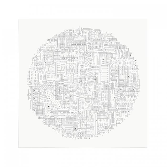 Place in Print The City Works London Circular Art Print