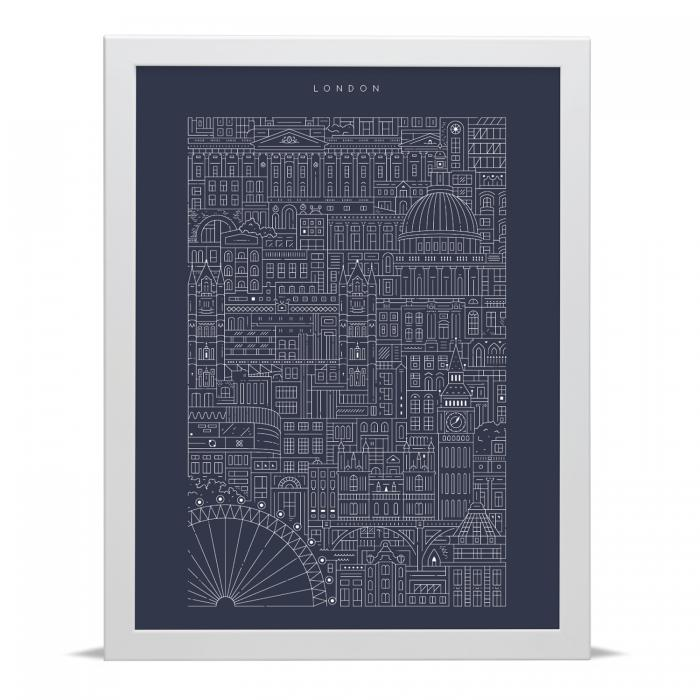 Place in Print The City Works London Blueprint Art Print