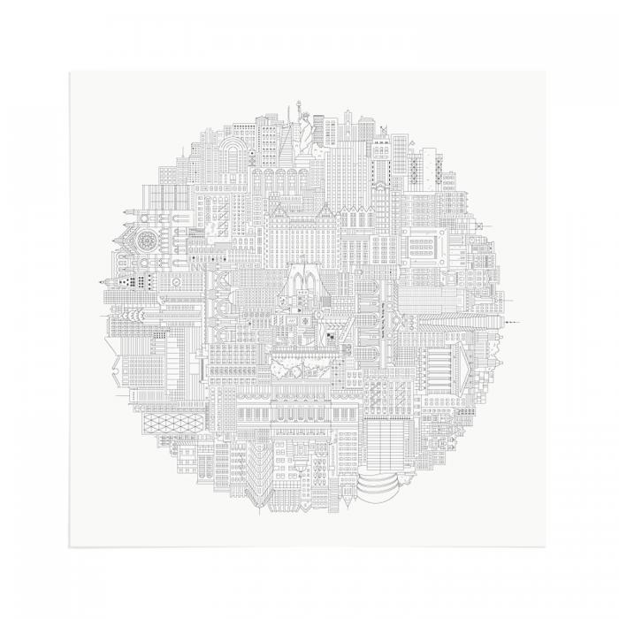 Place in Print The City Works New York City Circular Art Print