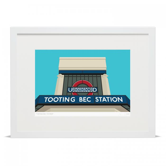 Place in Print Tooting Bec Underground Tube Station Art Print