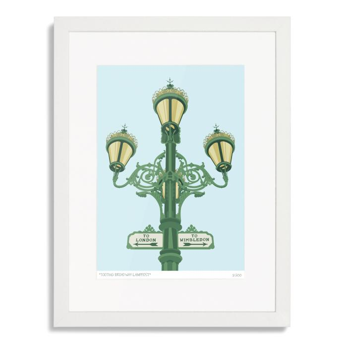 Tooting Broadway Lamppost Sign Art Poster Print