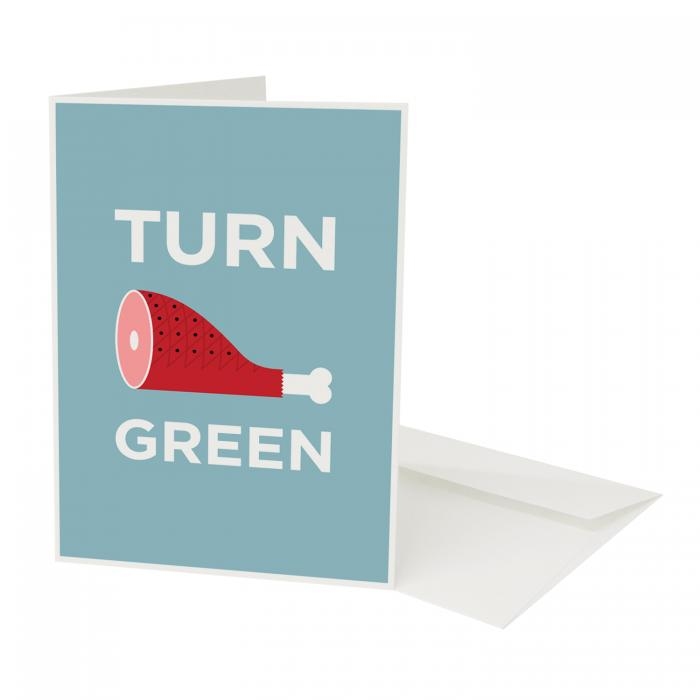 Place in Print Pate Turnham Green Neighbourhood Pun Greetings Card