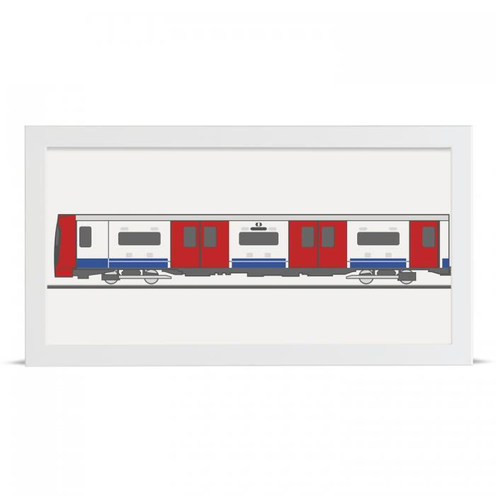 Place in Print Victoria Line 2009 Stock Underground Tube Train Front Section Art Print