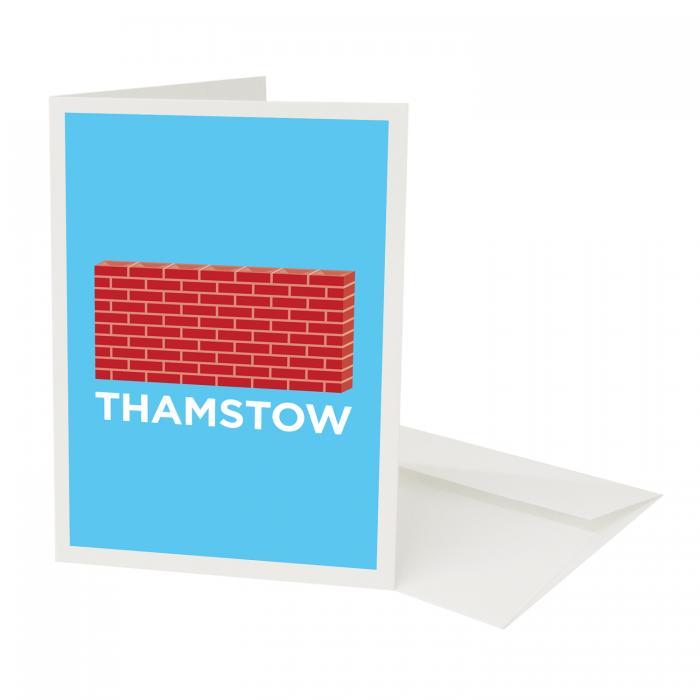 Place in Print Pate Walthamstow Neighbourhood Pun Greetings Card