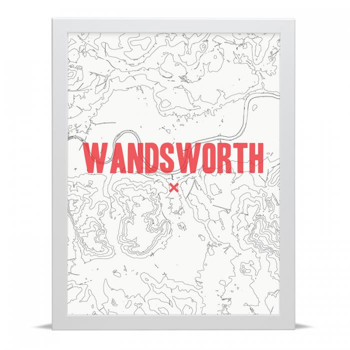 Place in Print Wandsworth Contour Map Art Print