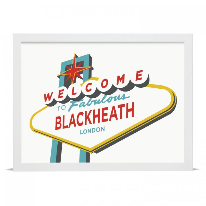 Place in Print Welcome to Fabulous Blackheath Vegas Sign Art Print