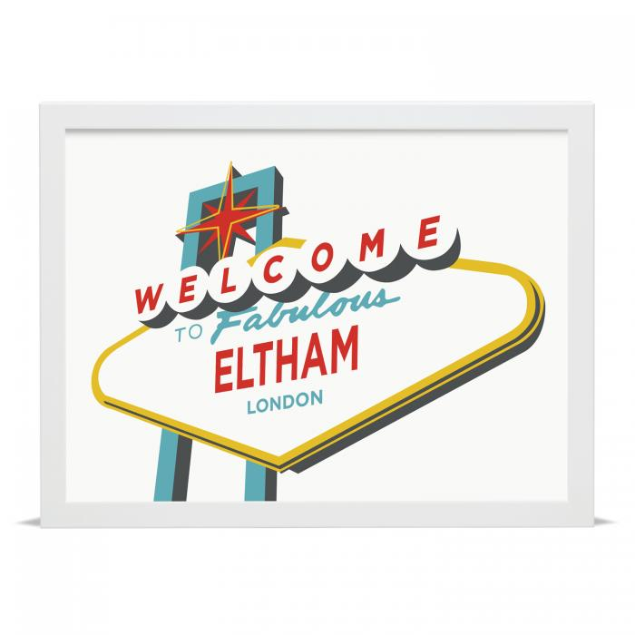 Place in Print Welcome to Fabulous Eltham Vegas Sign Art Print