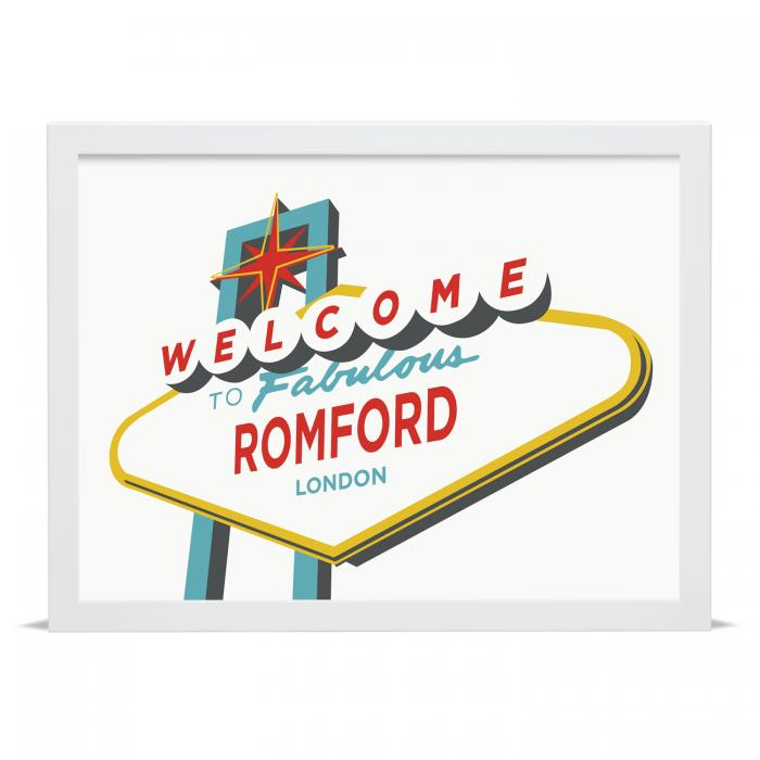 Place in Print Welcome to Fabulous Romford Vegas Sign Art Print