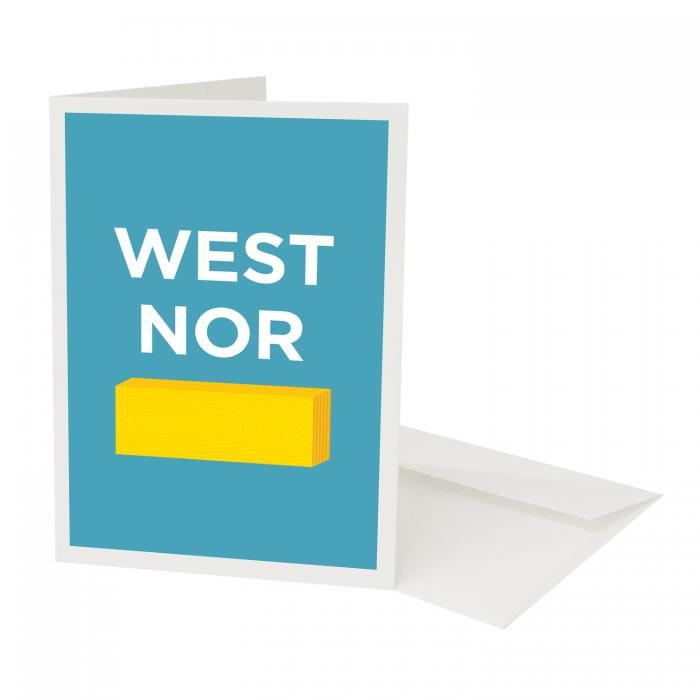 Place in Print Pate West Norwood Neighbourhood Pun Greetings Card