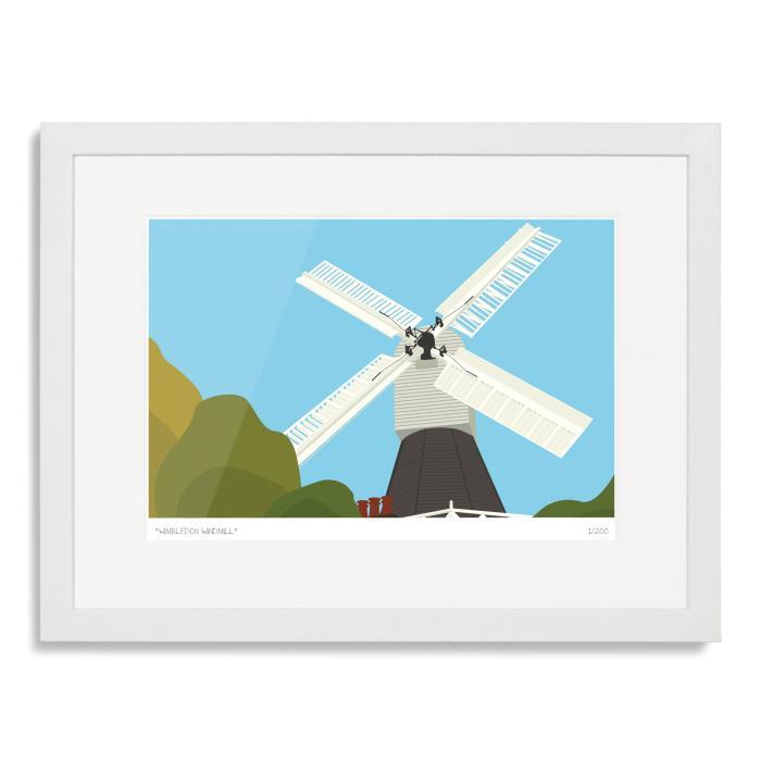 South London Prints Wimbledon Windmill Art Poster Print