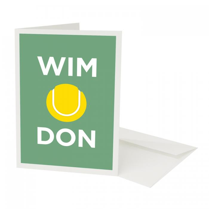 Place in Print Pate Wimbledon Neighbourhood Pun Greetings Card