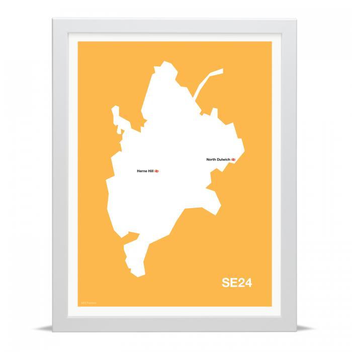 Place in Print MDLThomson SE24 Postcode Map Art Print