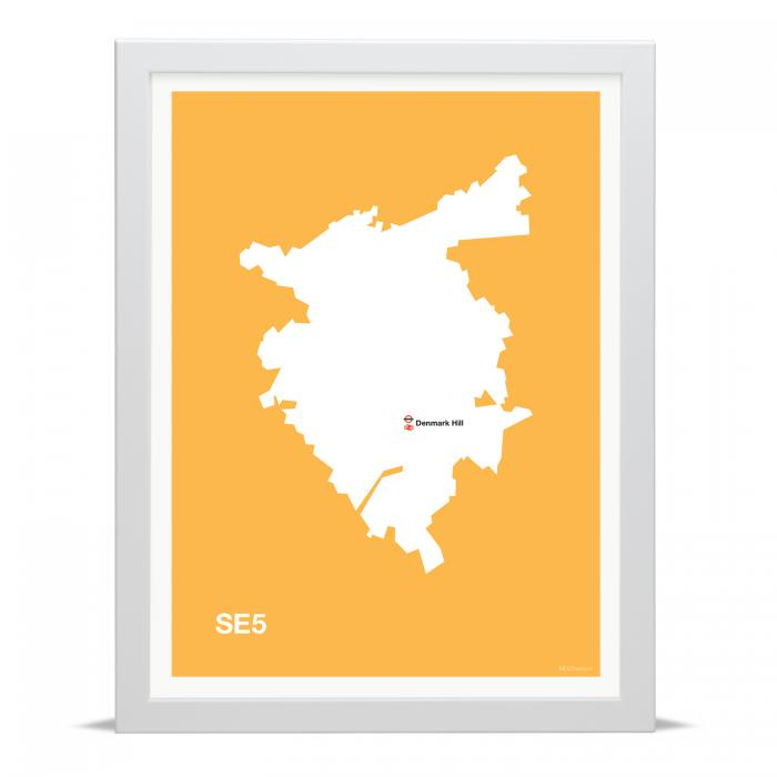 Place in Print MDLThomson SE5 Postcode Map Art Print