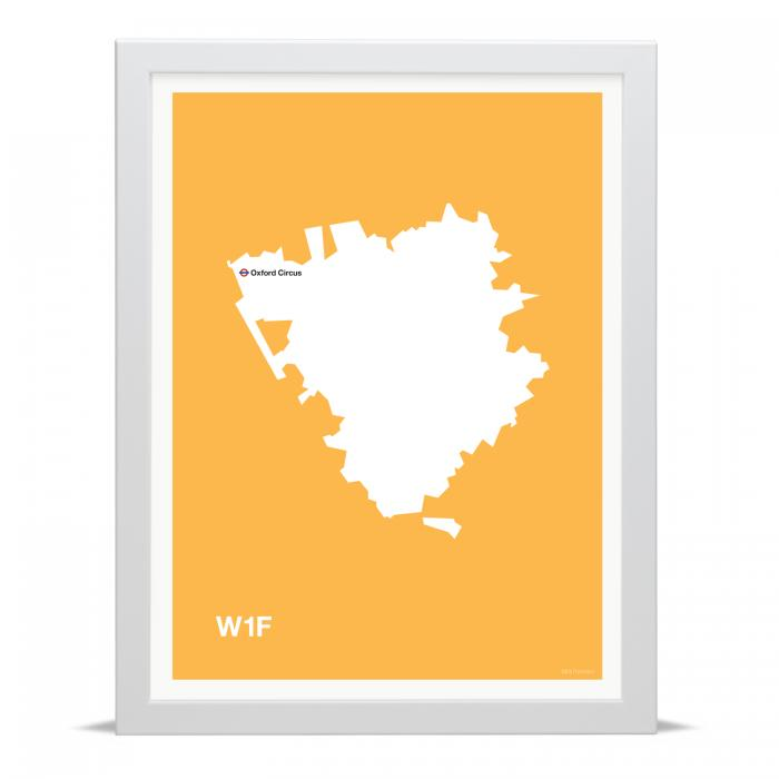 Place in Print MDLThomson W1F Postcode Map Art Print
