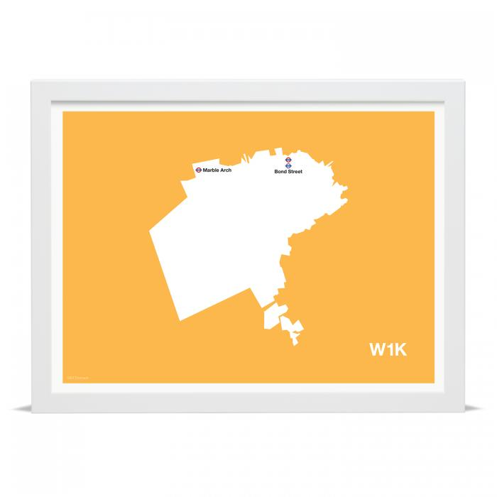 Place in Print MDLThomson W1K Postcode Map Art Print
