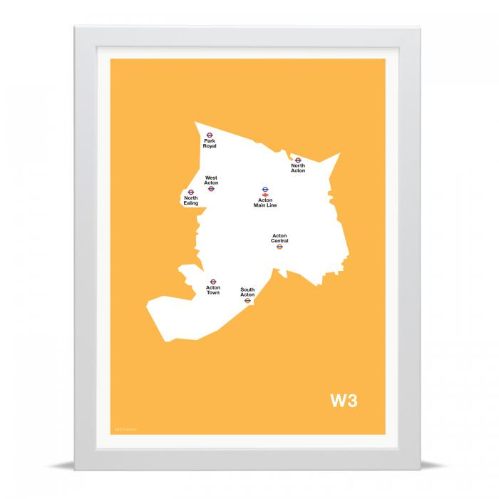 Place in Print MDLThomson W3 Postcode Map Art Print