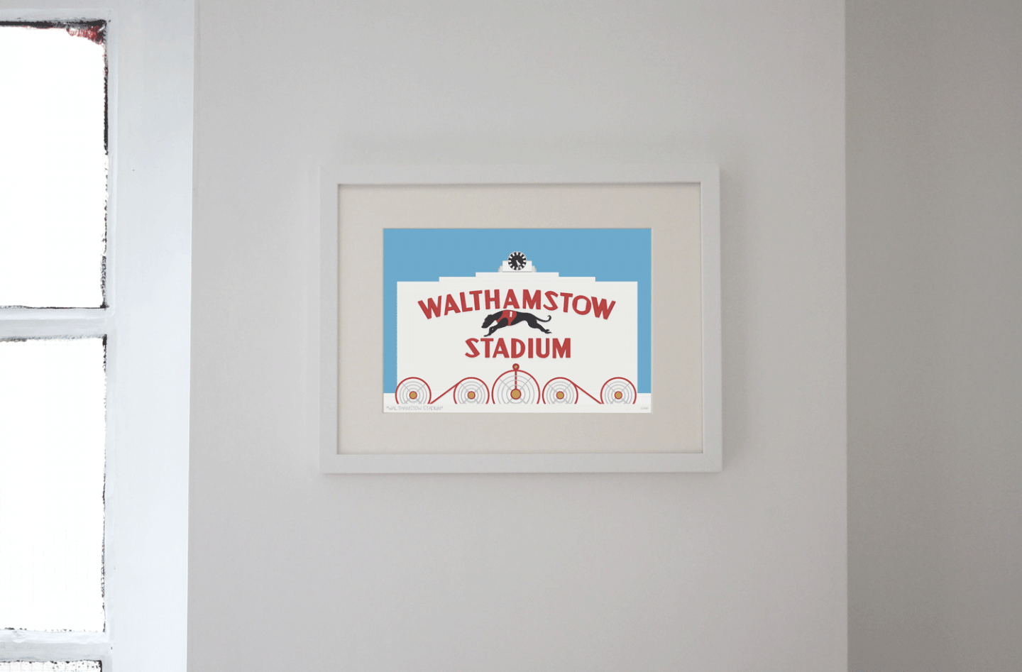 Place in Print Walthamstow Stadium Art Poster Print LIfestyle