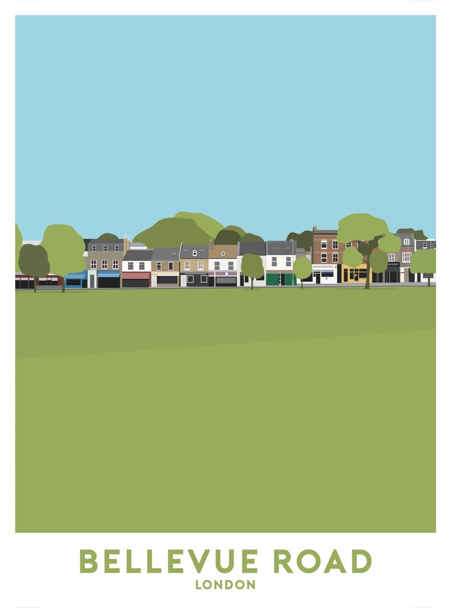 Place in Print Bellevue Road Travel Poster Art Print