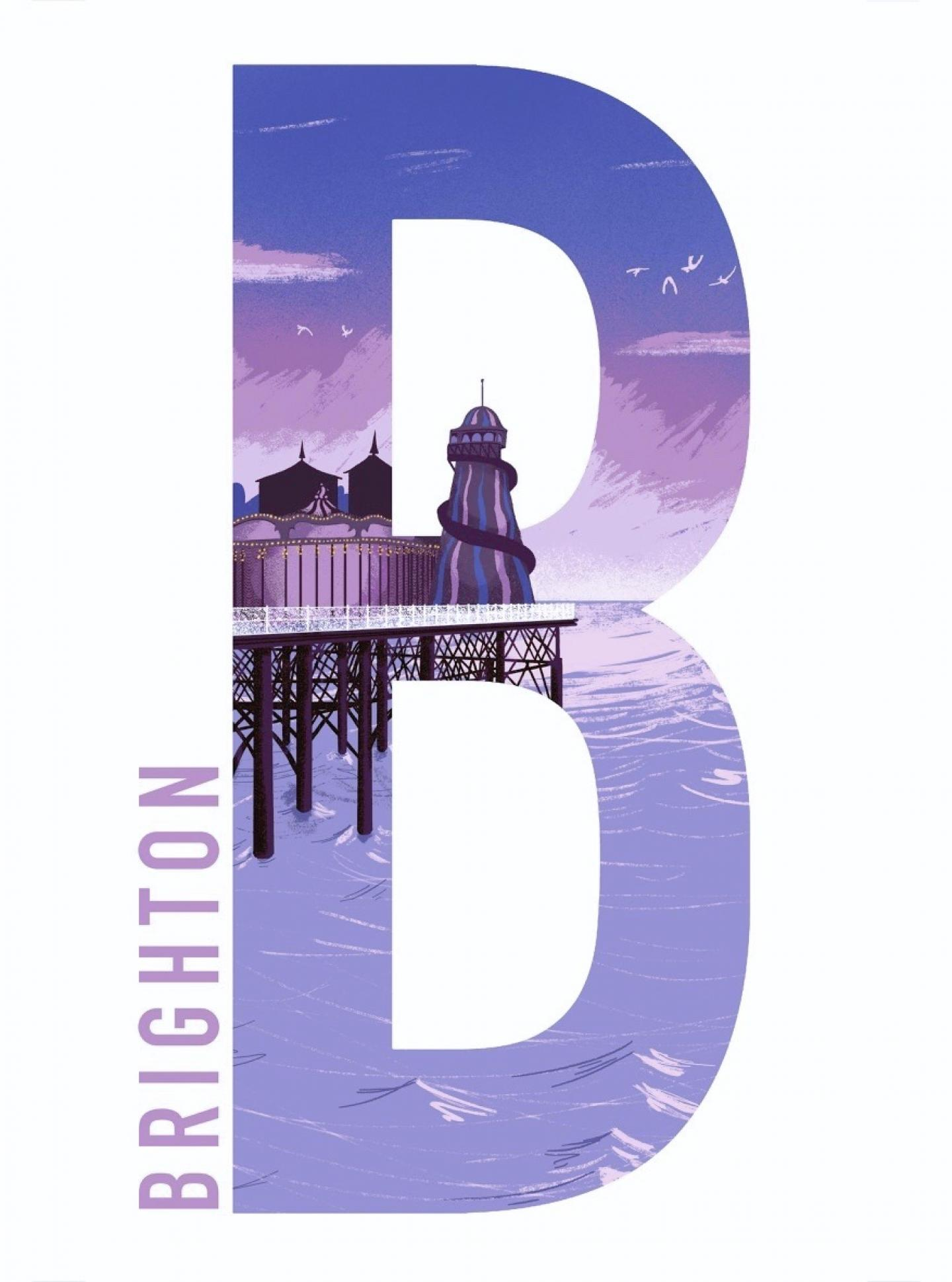 Place in Print Tom Camp B for Brighton Art Print