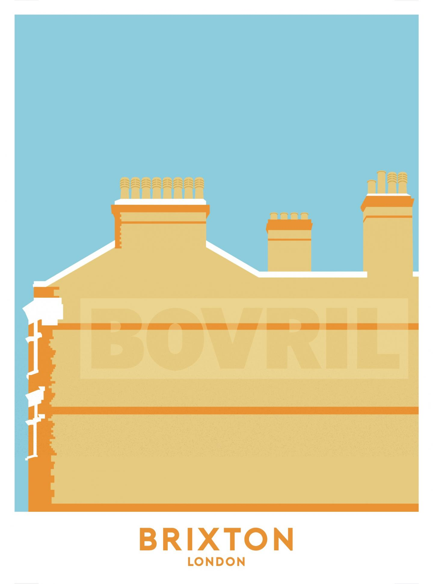 Place in Print Brixton Bovril Sign Travel Poster Art Print