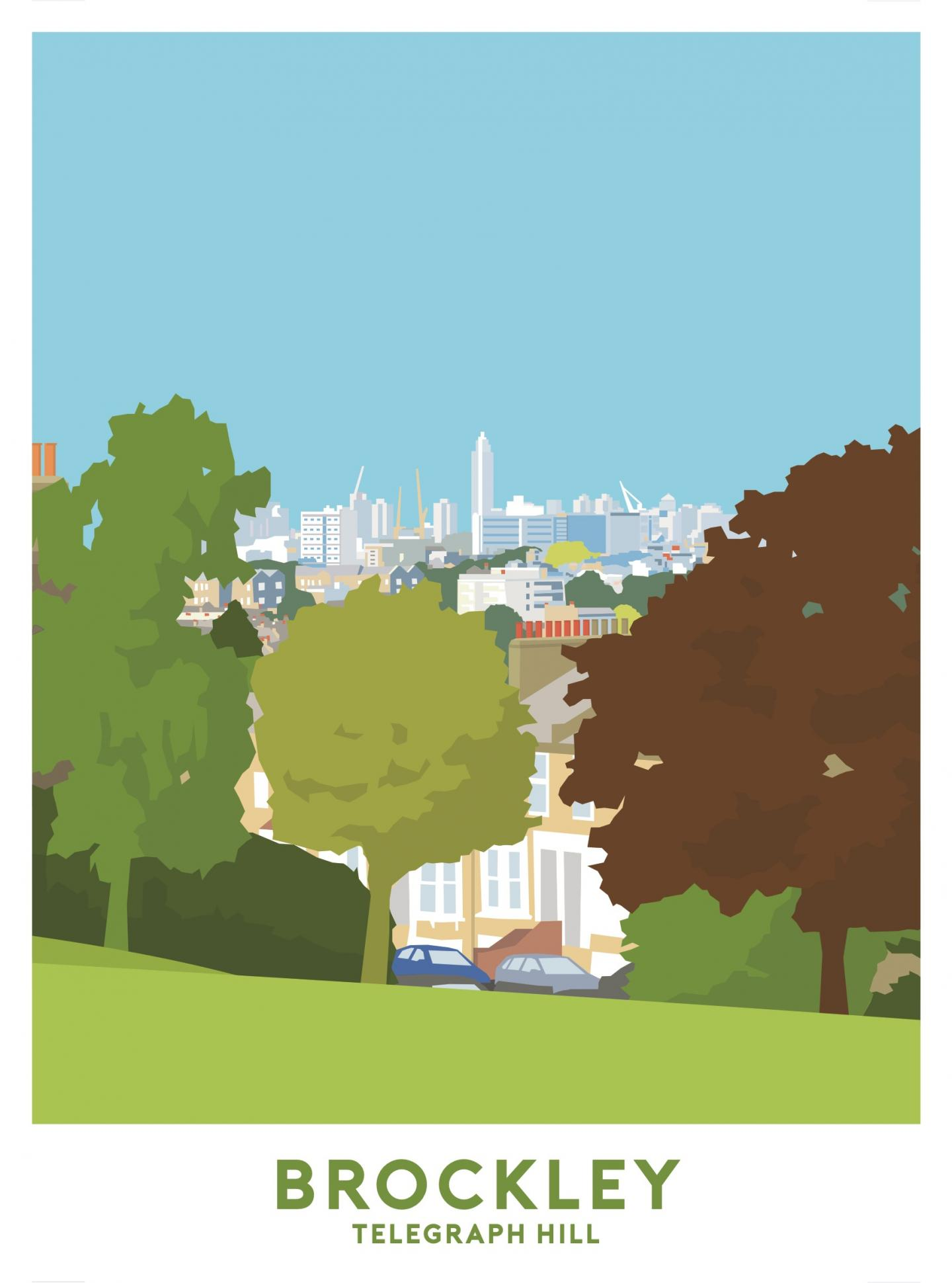 Place in Print Telegraph Hill Travel Poster Art Print