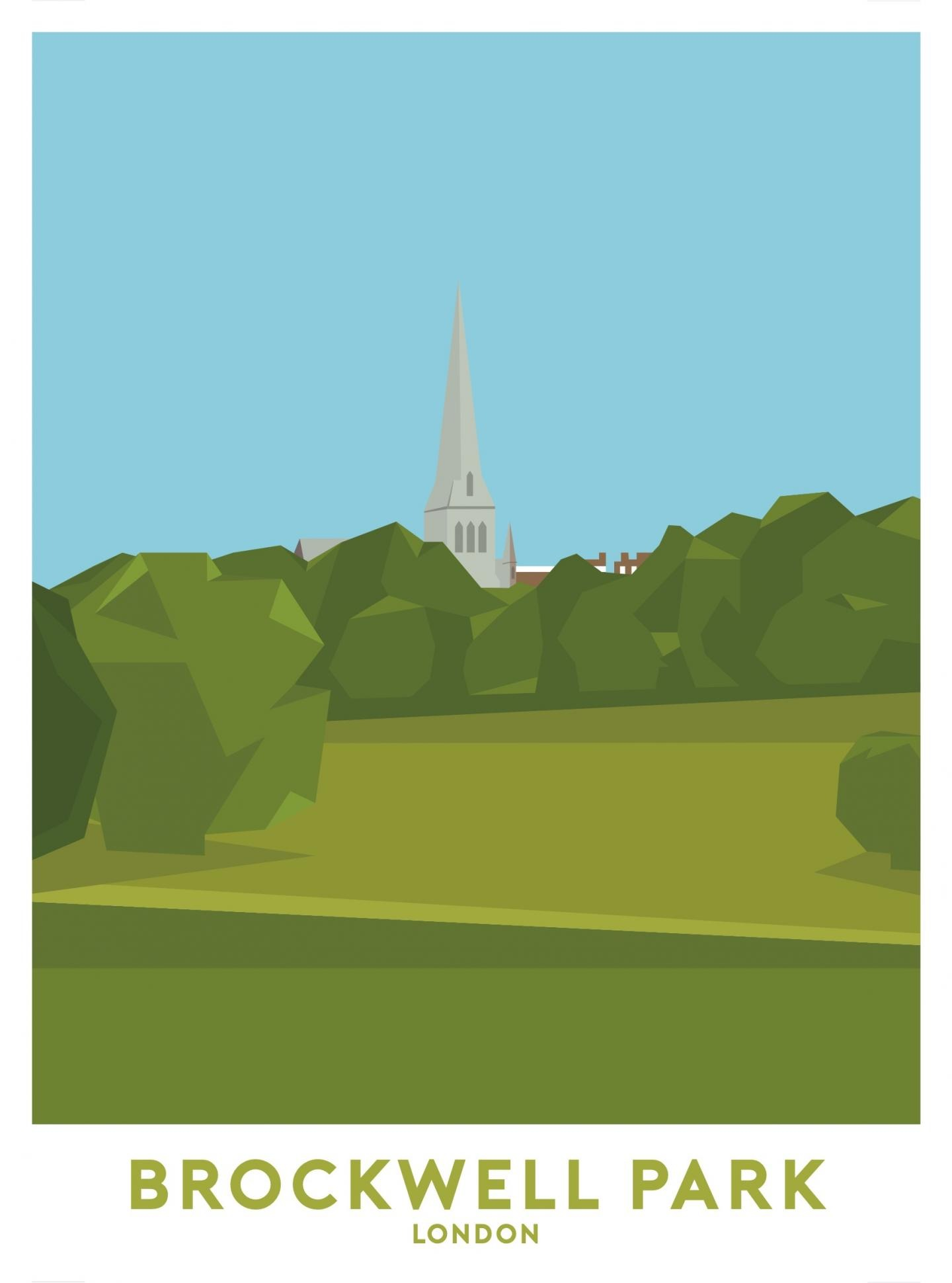 Place in Print Brockwell Park Travel Poster Art Print