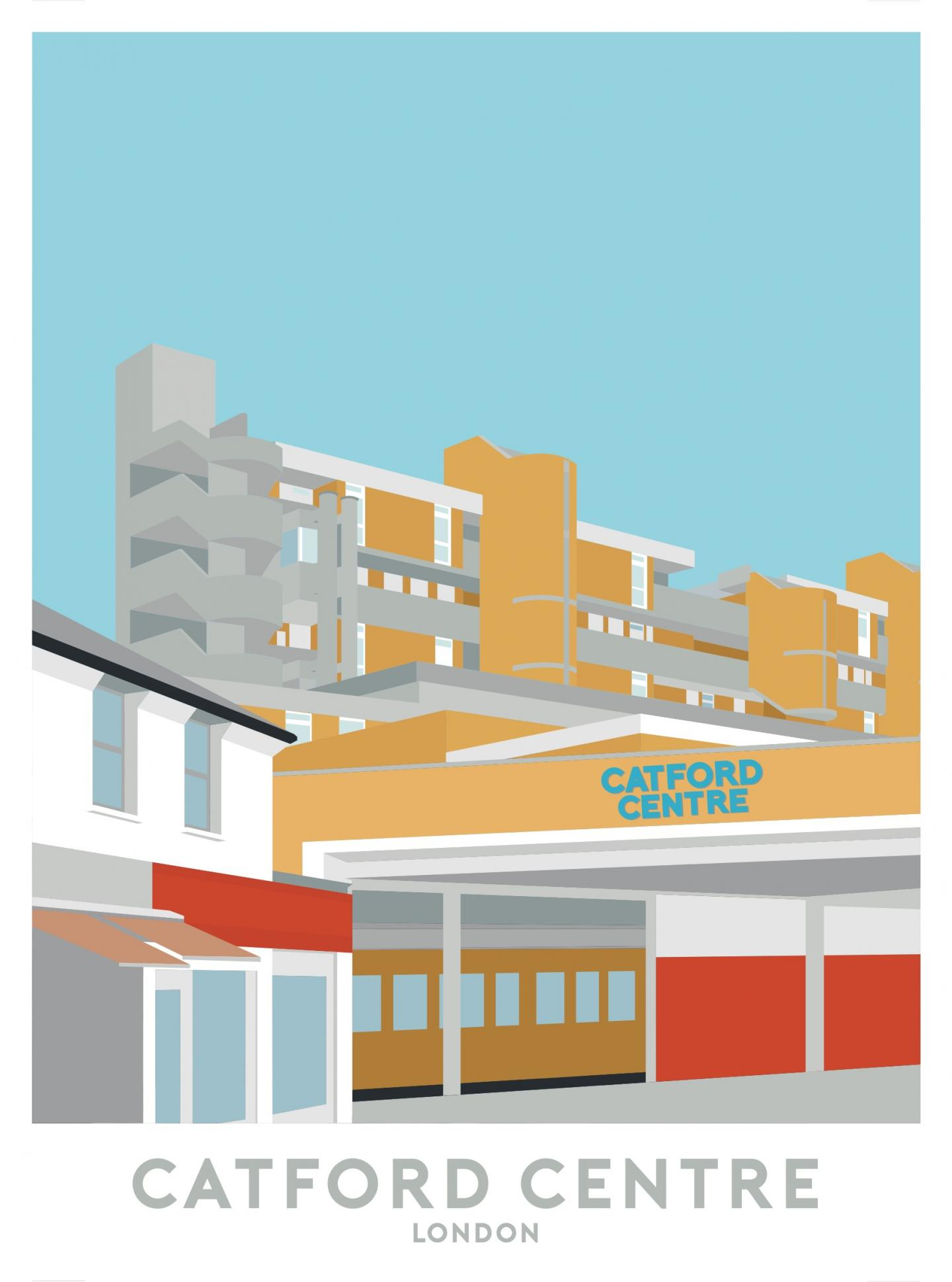 Place in Print The Catford Centre Travel Poster Art Print